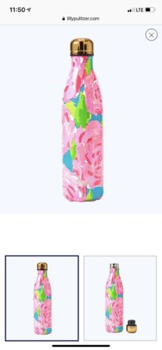 Swell Lilly Pulitzer Multi 25 OZ First Impression Large New Rose Bottle Floral