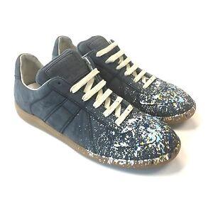 c13bda74e1a Details about NWT $595 Maison Martin Margiela Men's Suede Paint Splatter  Sneakers 7 AUTHENTIC