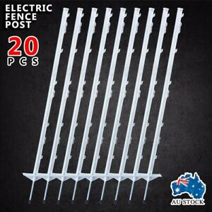 20pcs-IN-POSTS-STRIP-GRAZE-PIG-TAIL-TREAD-ELECTRIC-FENCE-PIGTAIL-STEEL-AU-POST