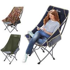 Folding High Back Camping Chair Lightweight  Heavy Duty 330lbs Capacity