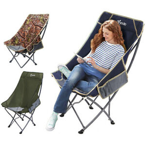 Folding High Back Camping Chair Lightweight  Heavy Duty 330lbs Capacity