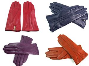 Ladies Women Leather Gloves Premium Quality Genuine Soft Fur Lined Winter Warm