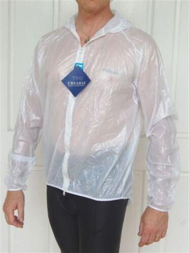Jaggad Windproof Waterproof Bike Cycling Rain Hooded Jacket Clear unisex S-XXL