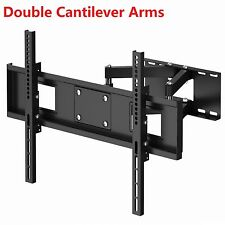 TV Wall Bracket Heavy Duty Double Arms for 32 37 40 42 46 50 55 60 62 65 LCD LED