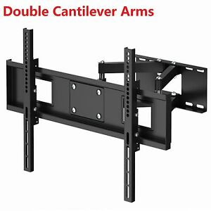 TV-Wall-Bracket-Heavy-Duty-Double-Arms-for-32-37-40-42-46-50-55-60-62-65-LCD-LED