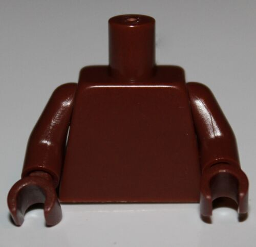 Lego Reddish Brown Torso w// Reddish Brown Arms Hands