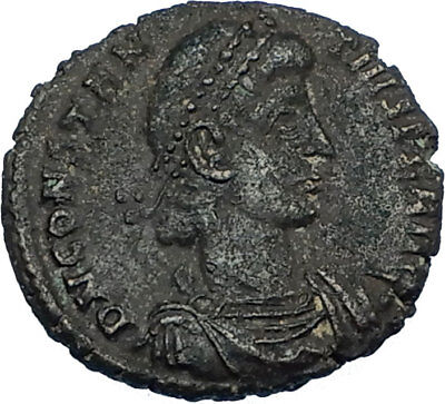 Constantius Ii 348ad Authentic Ancient Roman Legionary Battle Scene Coin I65796 Extremely Efficient In Preserving Heat Roman: Imperial (27 Bc-476 Ad)