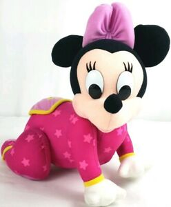 VTG-1999-RARE-Mattel-Disney-Crawling-Baby-Minnie-Mouse-10-034-Stuffed-Plush-Doll