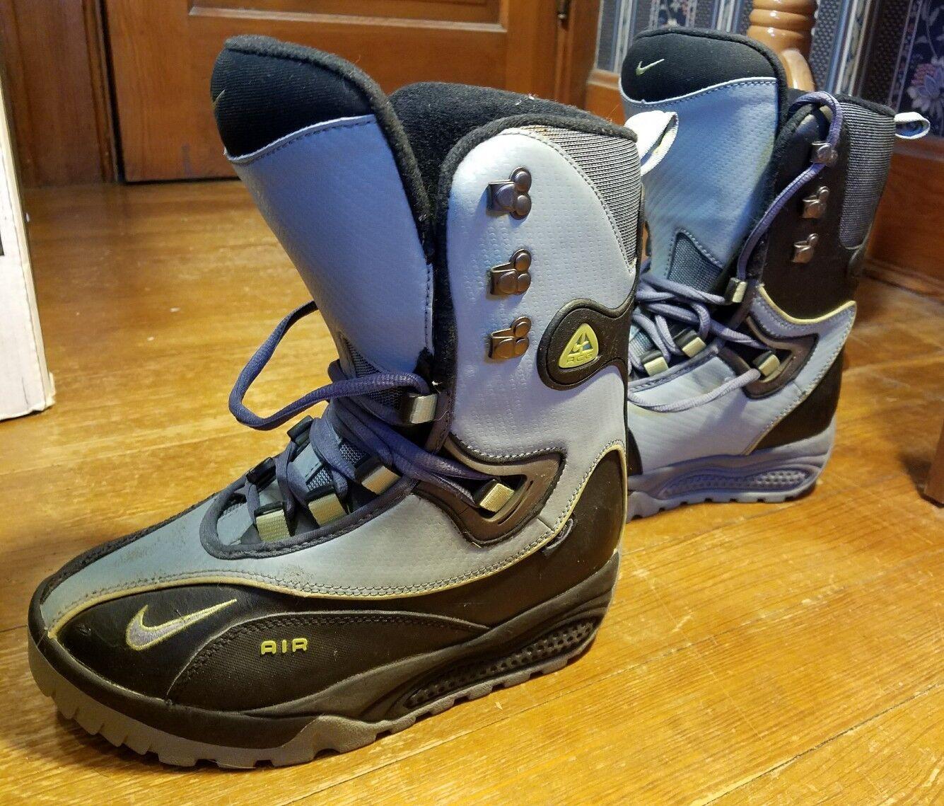 Nike air taglia maschile di snowboard stivali taglia air 9 nero  gray neve bordo euc 7e6919