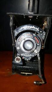 100% De Qualité Antique Voigtlander Yoighander Bessa Fold-out Camera Voigtar-afficher Le Titre D'origine