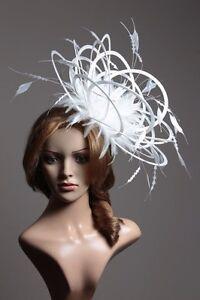 Large white diamond cut wedding fascinator hat choose any colour image is loading large white diamond cut wedding fascinator hat choose solutioingenieria Images