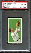 1909-11 T206 Jack Dunn PSA 6 +++ Looks Nicer Centered Baltimore