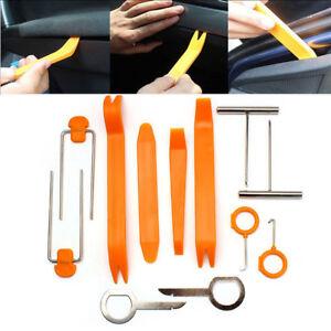 12 Pcs Car Door Trim Removal Tool Pry Panel Dash Radio Body Clip Installer Kits