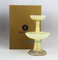 John Hardy Home Amazing Golden Alabaster & St. Silver Candle Holder 7 Box
