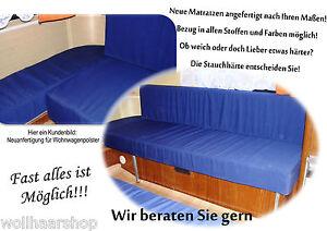 Matratze-f-Wohnwagen-Boot-Wohnmobil-Polster-Auflagen-Sitzpolster-Kissen