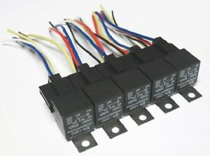5 pack 30 40 amp relay & wiring harness spdt 12 volt bosch style 5 40 amp relay from german image is loading 5 pack 30 40 amp relay amp wiring