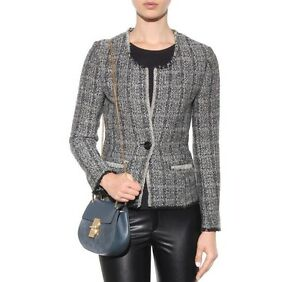 Details About Nwt Isabel Marant Etoile Leary Wool Blend Frayed Boucle Tweed Jacket Blazer