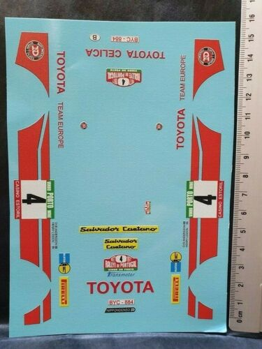 VV24036 PORTUGAL 1977 #4 ANDERSSON DECALS 1//24 TOYOTA CELICA 2000 GT