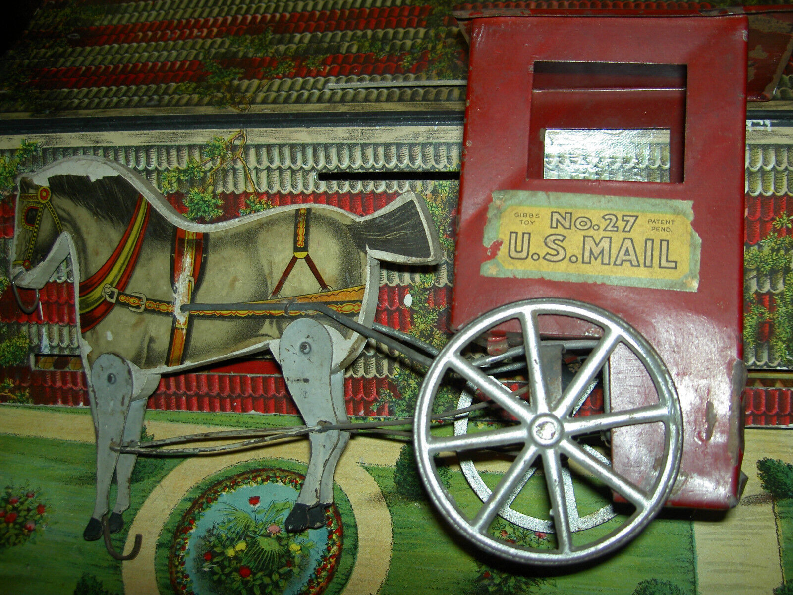 Gibbs, antigüedades de madera, metal, número 27 American postal Equipment Equipment Equipment and Cocheruaje c1900 e46