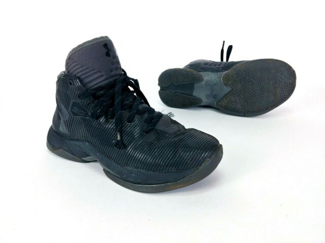 premium selection 8cc49 28288 Under Armour Size 5 Youth Steph Curry 2.5 Boys Basketball Shoes Black  Warriors