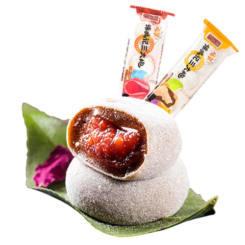 Chinese Snack Brown Sugar Mochi Mashu Gift 四川特产爆浆麻薯黑糖糕点零食 成都小吃锦城记三大炮408g//盒 Ske15