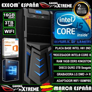 Ordenador-Gaming-Pc-Intel-Core-i5-16GB-DDR3-3TB-HDD-Wifi-Sobremesa-Marca-Espana