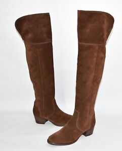 0b303291560 New! Frye  Clara  Tassel Over the Knee Boot Brown Suede 3475370 Size ...