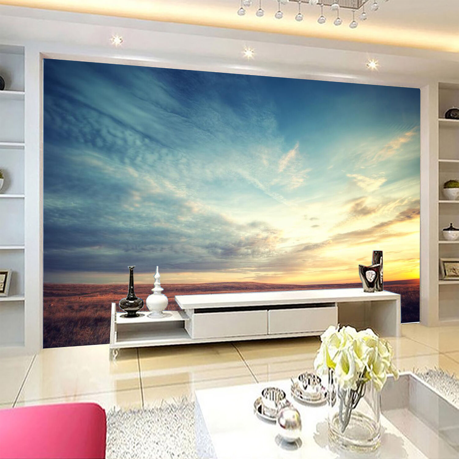 3D Pretty Sky Wide Grassland 68 Wall Paper Wall Print Decal Wall AJ WALLPAPER CA