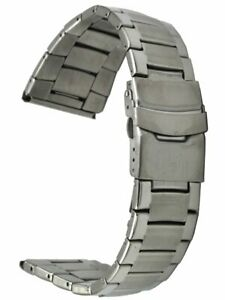 Edelstahl-Uhrenarmband-3-reihig-Ersatzband-Sicherheitsfaltschliesse-26-mm-Laenge-1