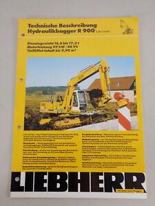 Data Sheet / Technical Description Liebherr Hydraulic Excavators A 900 From 03/