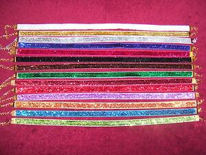 amplia gama de colores Partido Clubbing Lame Brillo Gargantilla Navidad Yule Collar