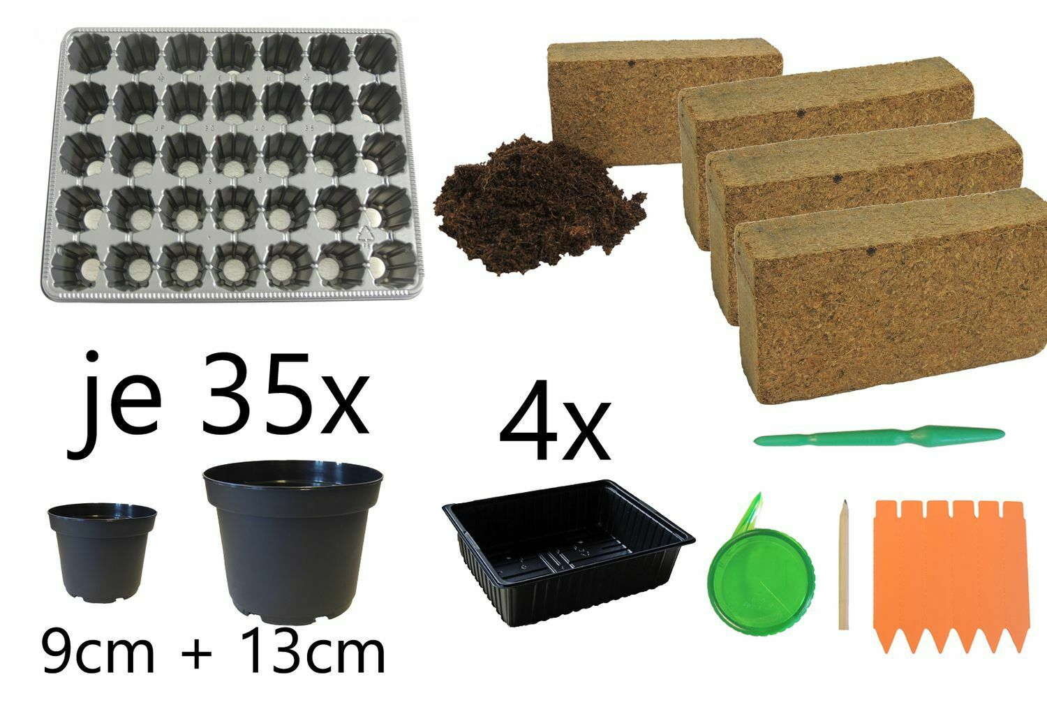 Breeding Sowing And Pikierset 88-Teilig For 35 Plants Tomatoes Chili Paprika