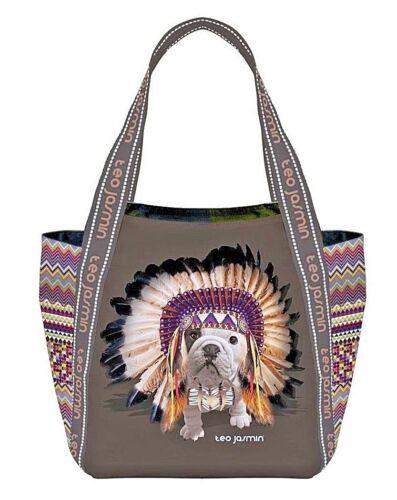 los los de Bolso Shopper English Regalo Tote para Bulldog English perros Teo Jasmin amantes Festival vCZqOO