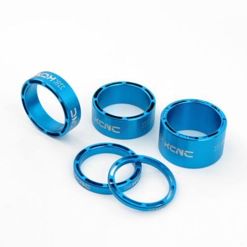 KCNC AL6061 Alloy Bike Bicycle Hollow Headset Stem Spacer 3+5+10+14mm Blue