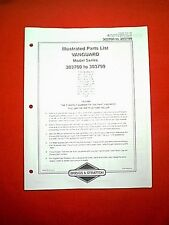 BRIGGS STRATTON VANGUARD V TWIN VERTICAL ENGINE 303700 TO 303799 PARTS MANUAL