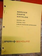 1980 New Holland Model 301 303 Liquid Manure Spreader Service Parts Catalog