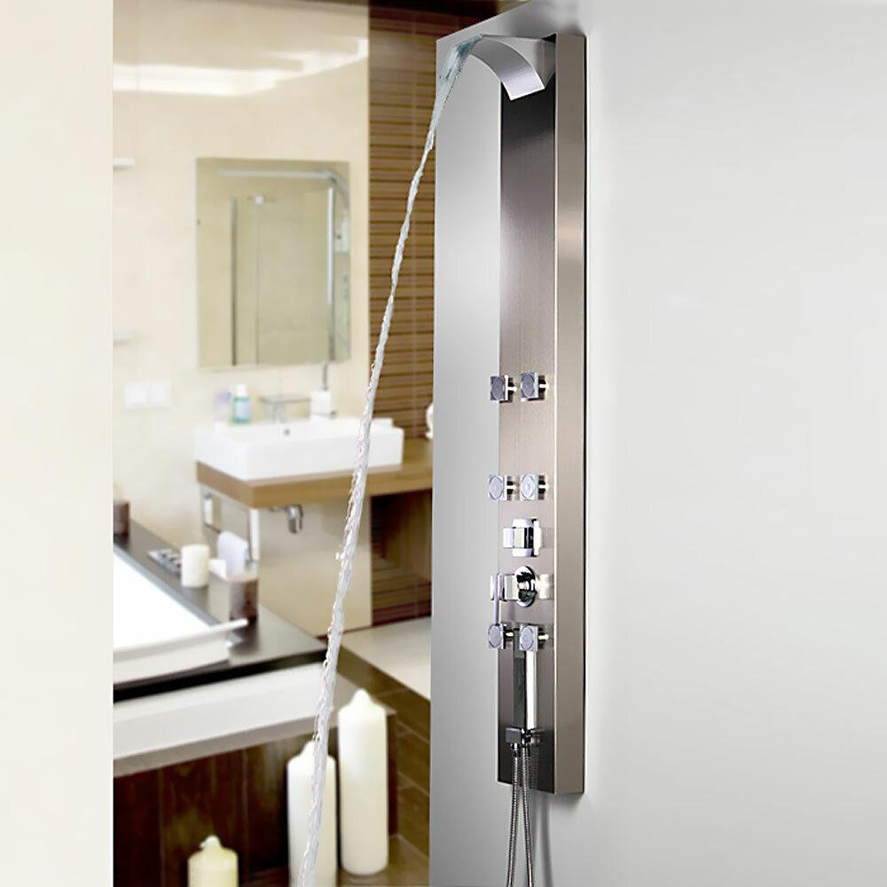 Pannello doccia idromassaggio acciao inox Sanlingo