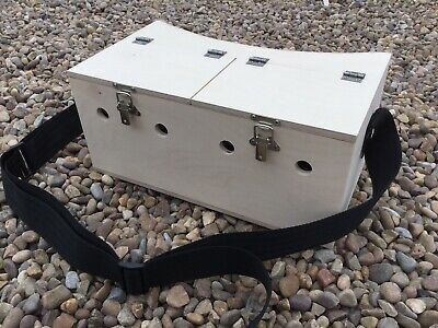 DOUBLE BOW BACK FERRET CARRY BOX 1 LARGE COMPARTMENT FERRETING RABBITING HUNTING