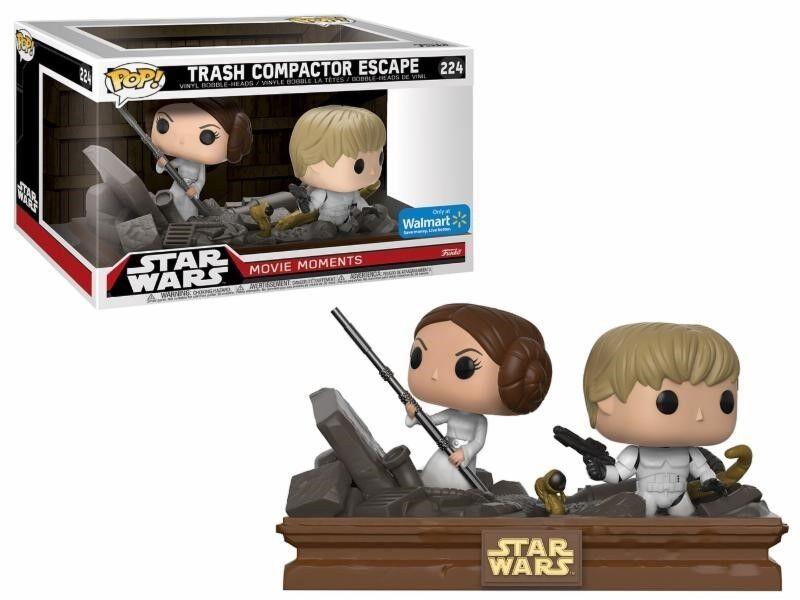 Trash Compactor Escape Luke Leia Star Wars Movie Moments POP  Vinyl Figur Funko