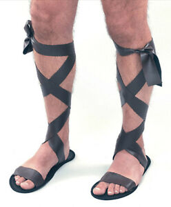 67eb873f4e9d1 New Mens Brown Roman Greek Gladiator Fancy Dress Costume Accessory ...