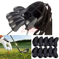 10pcs Black Neoprene Golf Club Protective Iron Head Cover Wedge Sock Headcover on sale