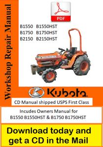 KUBOTA B1550HST B1750HST TRACTOR OPERATORS OWNERS MANUAL MAINTENANCE