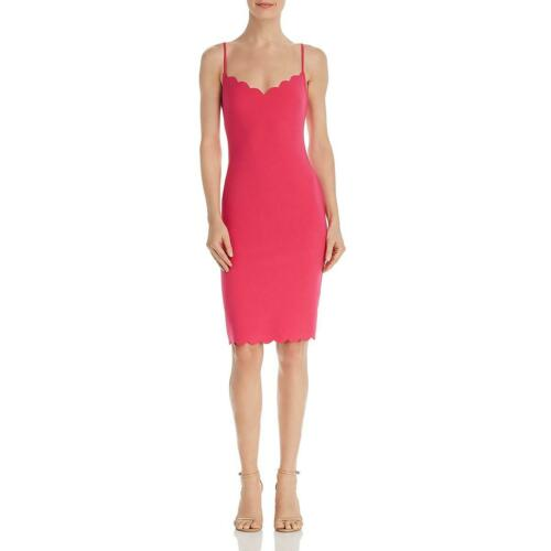 Likely Womens Lolita Pink Scalloped Sleeveless Party Cocktail Dress 00 BHFO 0581