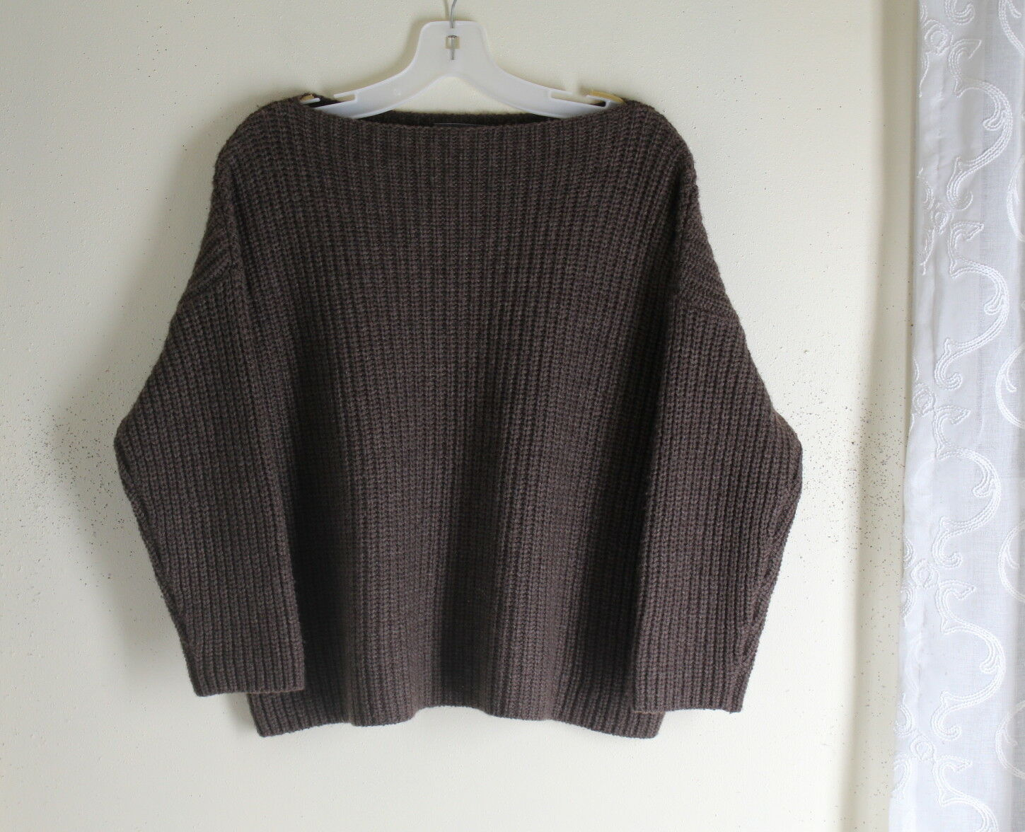 VINCE -Sz S Chunky Yak & Wool Modernist Unusual Minimalist Plush Luxury Sweater