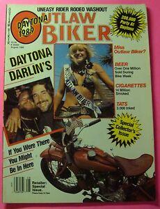 OUTLAW BIKER MAGAZINE AUG/1989...DAYTONA DARLIN'S..SPECIAL ...