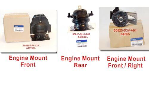Set 3 Pcs Engine Mount fits Honda Odyssey 2005-2006 V-6 3.5L