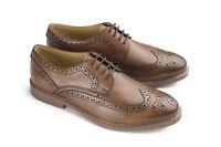 Mens Ikon Leather Fashion Smart Shoes Style Hazel - Tan Cambridge