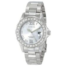 Invicta 15251 Lady's Crystal Accented Bezel SS Bracelet Dive Watch