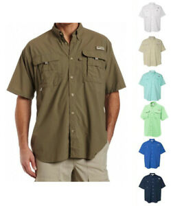 NEW-COLUMBIA-MEN-BAHAMA-SHORT-SLEEVE-SHIRTS-XS-S-M-L-XL-XXL