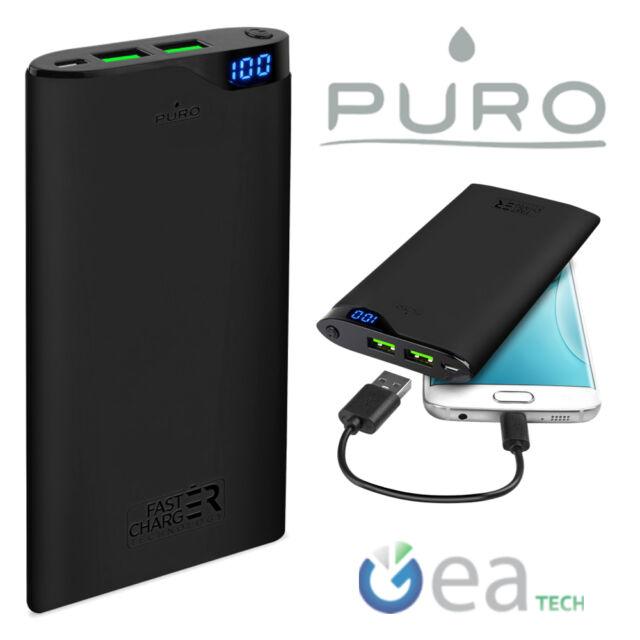 Puro POWER BANK Rapido 10000Mah CaricaBatterie Fast Universale Per Smartphone